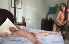 Femdom wife humiliate and fucks her sub husband