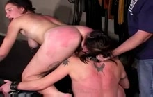 Spanking hard some dirty hookers
