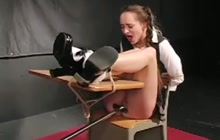 Schoolgirl gets punished by teacher