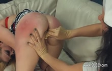 Bitch getting spanked and fucked