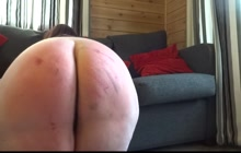 Spanking her big fat ass
