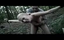 Blonde slut bdsm fucked in the woods