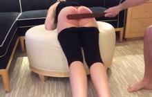 Hard spanking session